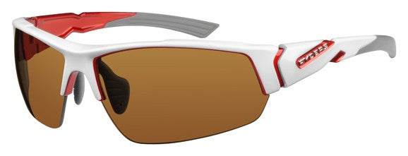 Ryders Strider White with Red Eye Wear