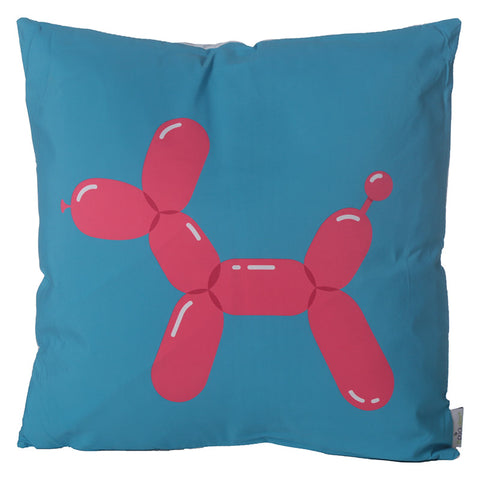 Balloonies Balloon Animal Blue Dog Cushion - Modern Cushion