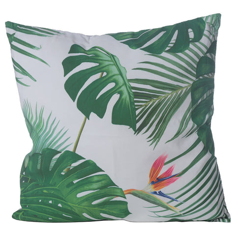 Tropical Paradise Cheese Plant Cushion - Modern Cushion