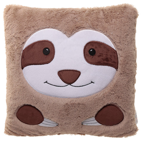 Just Hanging Around Plush Sloth Face Cushion - Modern Cushion