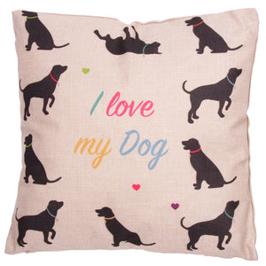 I Love my Dog Cushion - Modern Cushion