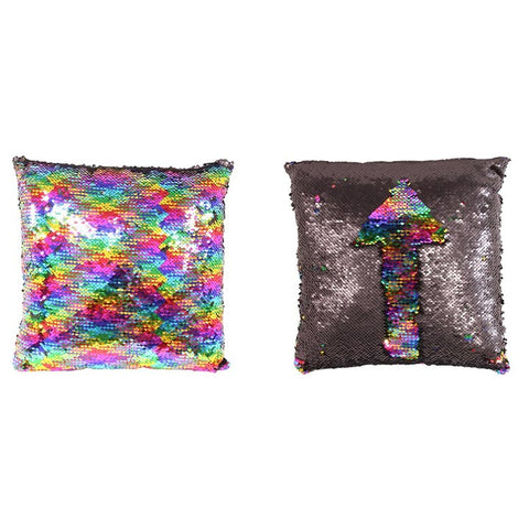 Rainbow Sequin Cushion - Modern Cushion