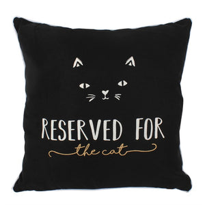 Black Reserved for the Cat Cushion - Modern Cushion