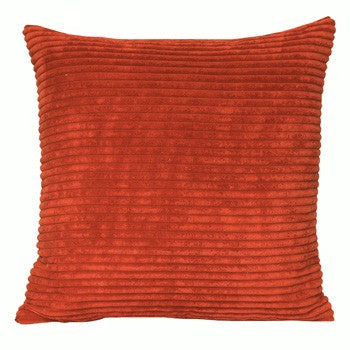 Chenille Velvet Orange Cushion - Modern Cushion