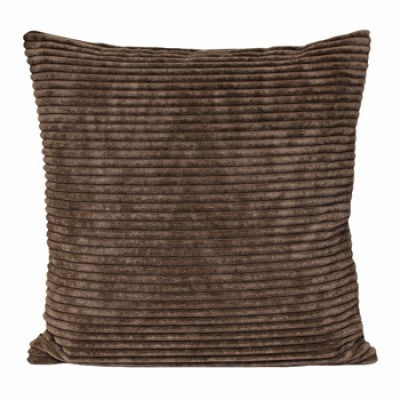Chenille Velvet Dark Brown Cushion - Modern Cushion