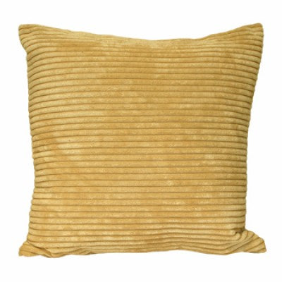 Chenille Velvet Yellow Cushion - Modern Cushion