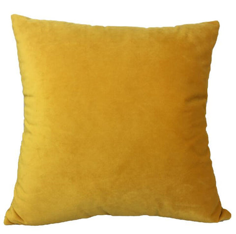 Velvet Velour Natural Orange Cushion - Modern Cushion