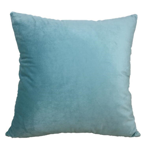 Velvet Velour Natural Blue Cushion - Modern Cushion