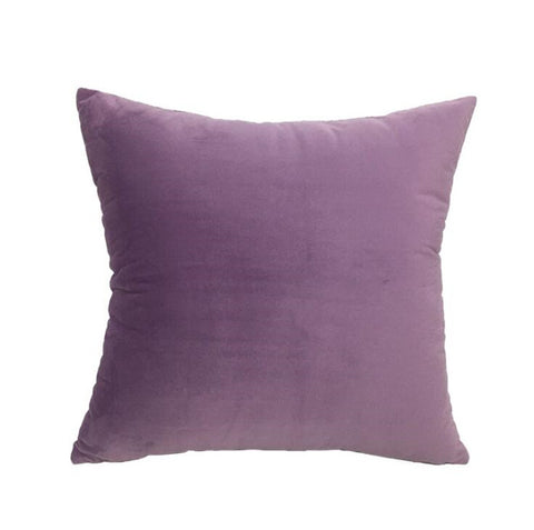 Velvet Velour Natural Purple Cushion - Modern Cushion
