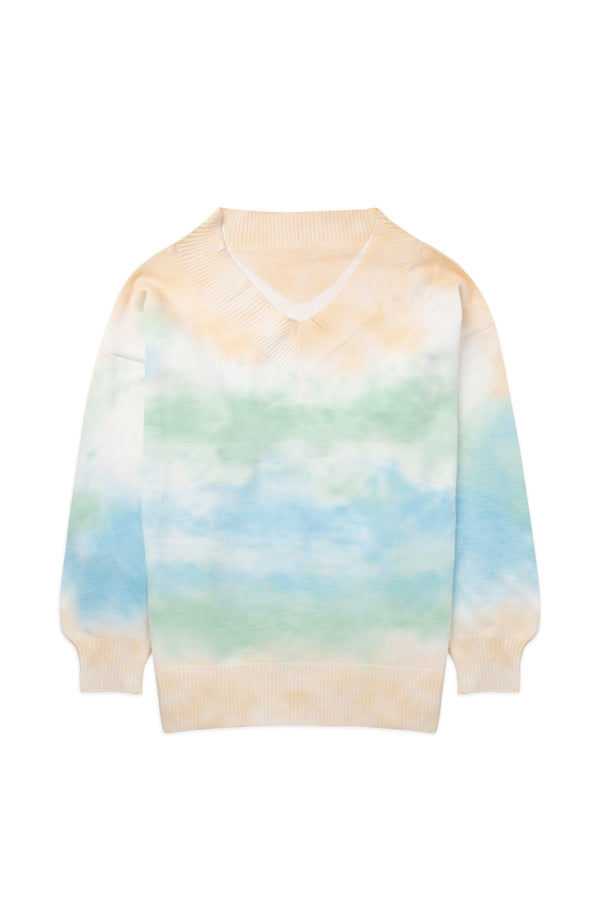 Tie Dye Clouds Knit
