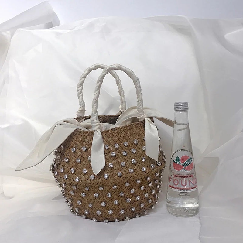 Rhinestone Bucket Bag