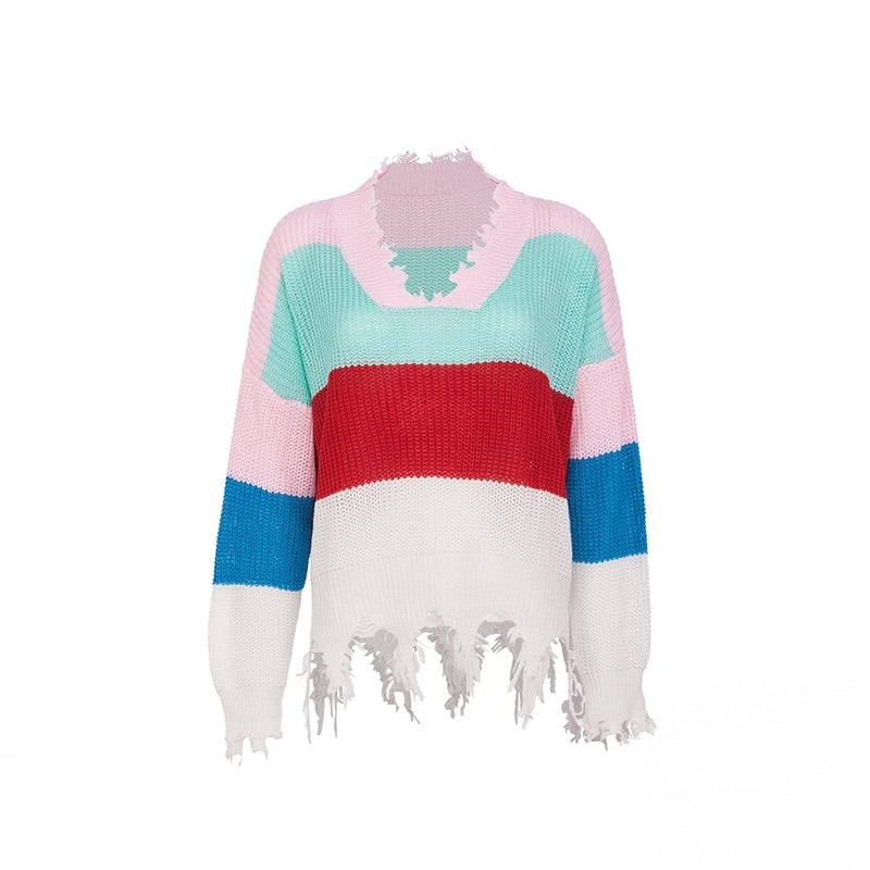 Frayed Rainbow Knit