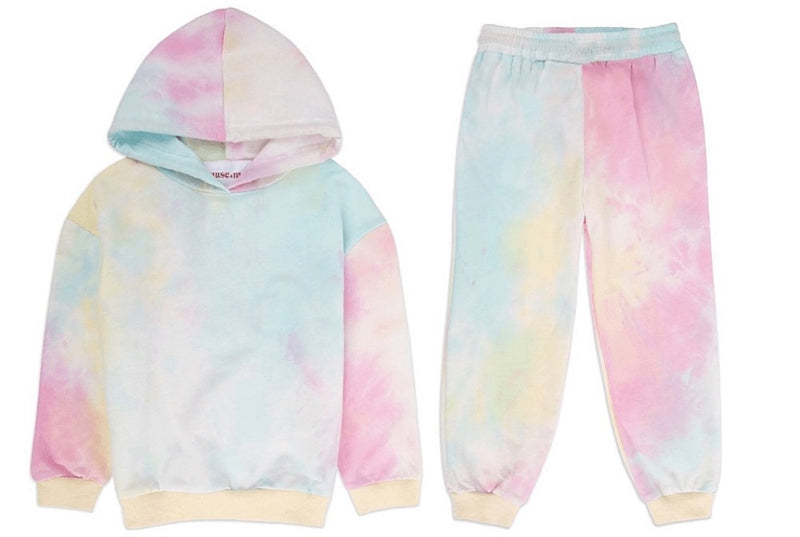 Childrens Pastel Tie Dye Lounge Set