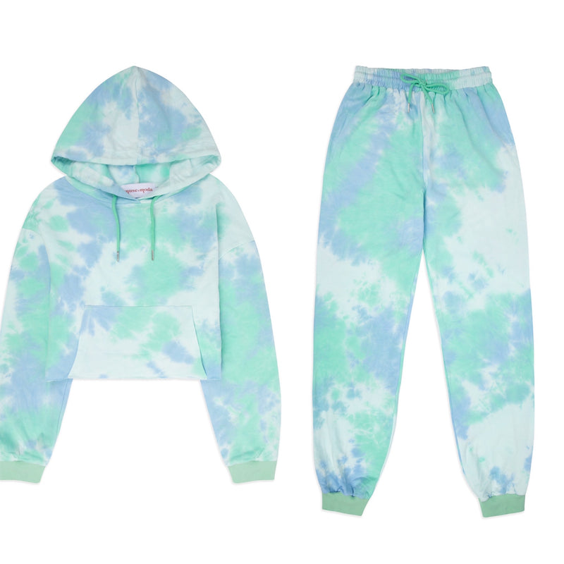 Mint Crop Tie Dye Lounge Set