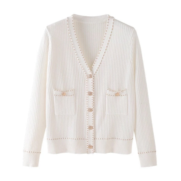 Gold Trim Cardigan