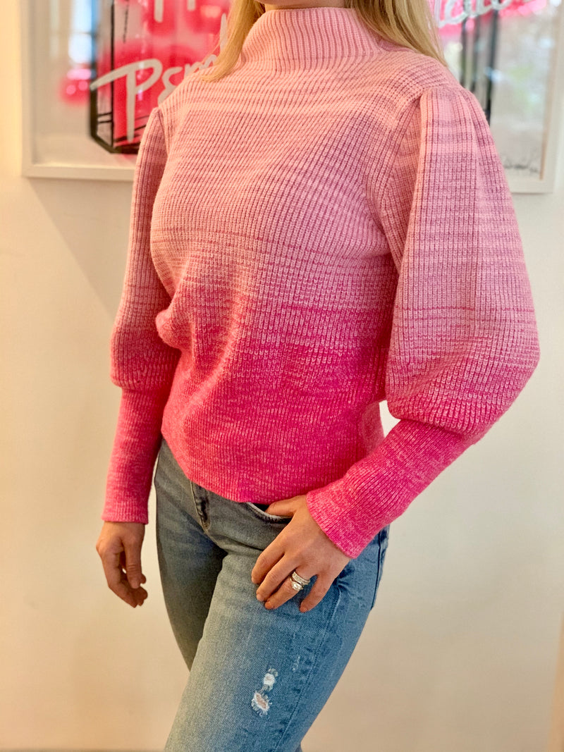 Think Pink Puff Sleeve jumper