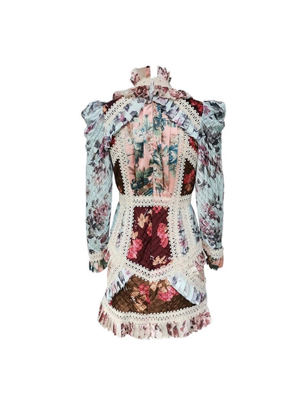 Floral Patchwork Dress