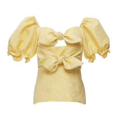 Yellow Double Bow Shirt