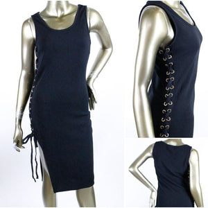 Sexy Slits Mini Dress - Crown Jewels Boutique