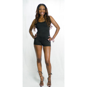 Black Silhouette Romper - Crown Jewels Boutique