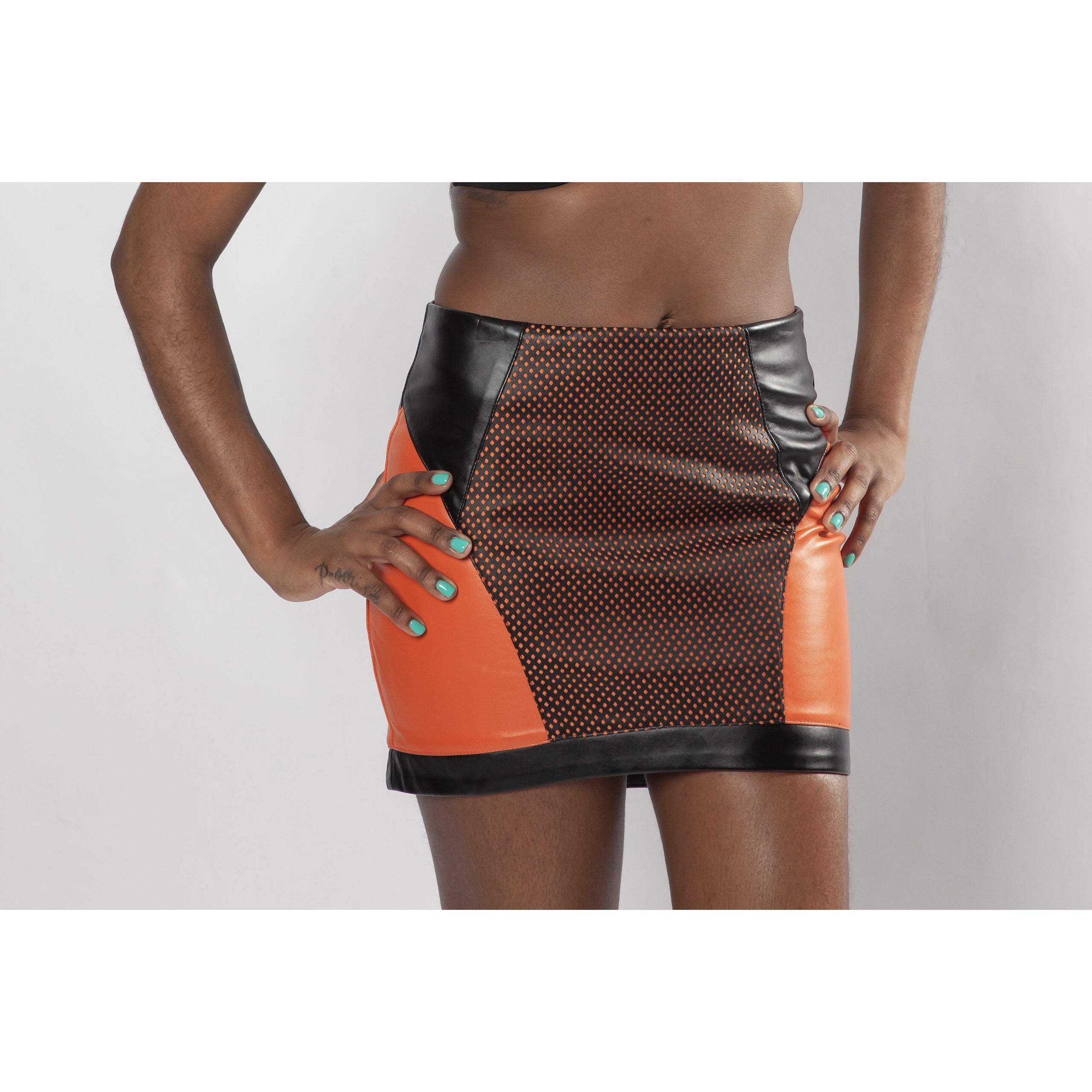 Fierce Color Blocking Mini Skirt - Crown Jewels Boutique