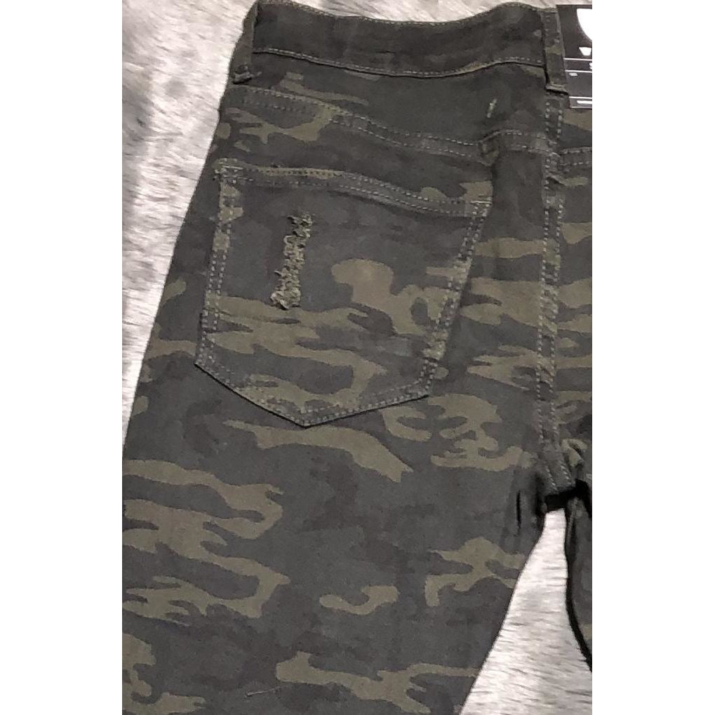 Look At Me Now Camo Jeans - Crown Jewels Boutique