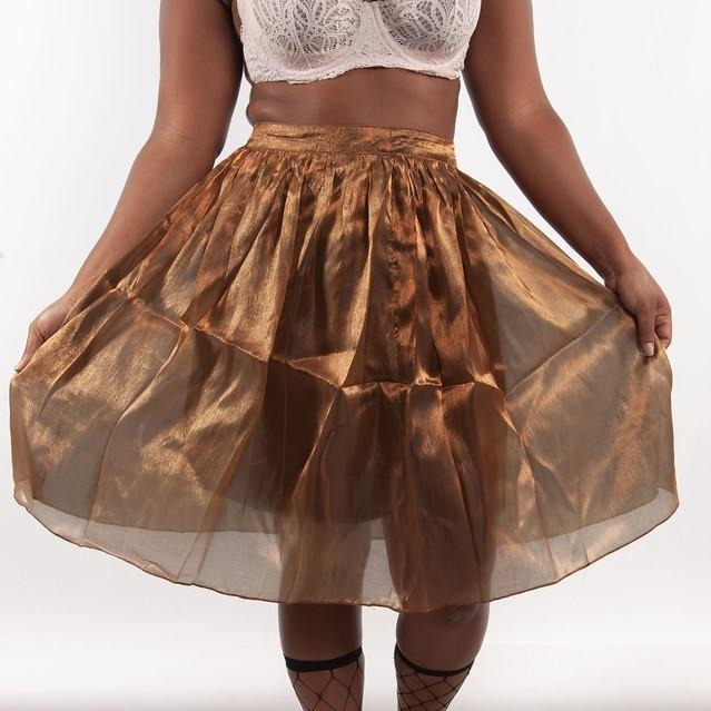 Bronze Flare Skirt - Crown Jewels Boutique