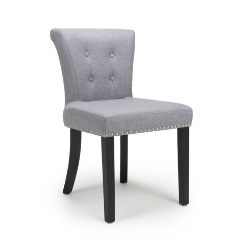 Saadiyat Accent Chair - Linen Effect - Silver Grey