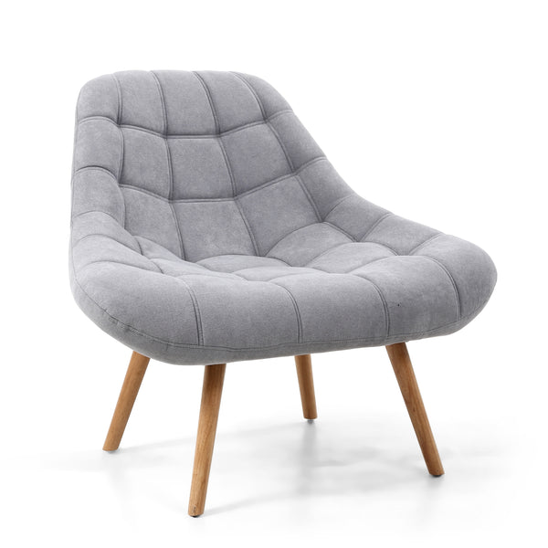 Scallop Chair - Fabric - Grey