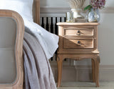 Lamonte 2 Drawer Bedside - Mindi - Natural