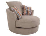 Felton <br> Swivel Cuddler <br> Barely Beige