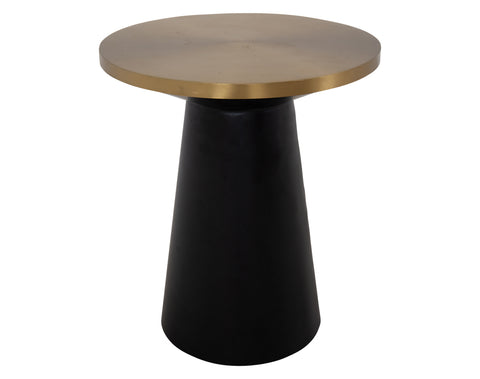 Samba Side Table <br> Round <br> Brass / Black