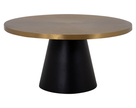 Samba Coffee Table <br> Round <br> Brass / Black