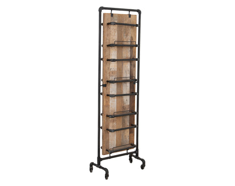 Re-Claimed Magazine Rack <br> Teak <br> Iron