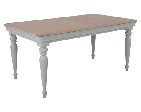 Peverill 1.6m Ext Dining Table <br> Ext to 2m <br> Misty Grey