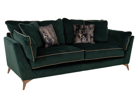 Rocco 3 Seater <br> Festival / Duchess <br> Emerald / Gold