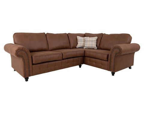 Standridge Corner Sofa - RH <br> Brown <br> RRP £1049.99