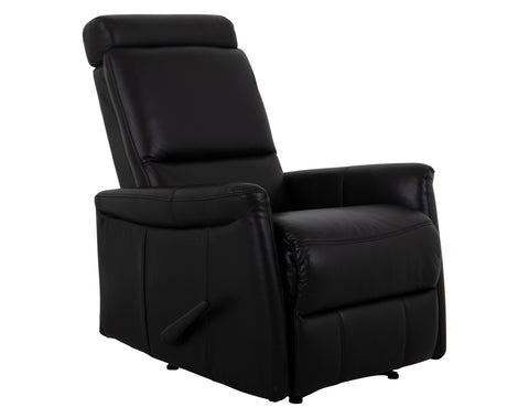 Boston Recliner Chair - Leather - Black - BIG SAVING