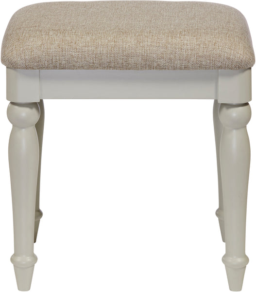 PEVERIL Dressing Stool - Misty Grey - RRP £145
