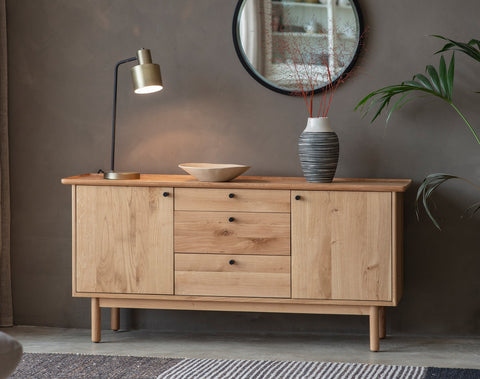 Kingham 2 Door 3 Drawer Sideboard Oak