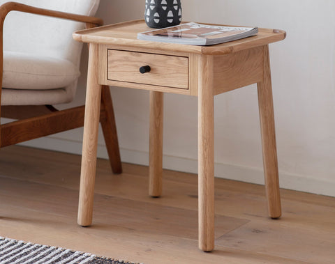 Kingham 1 Drawer Side Table (Oak)