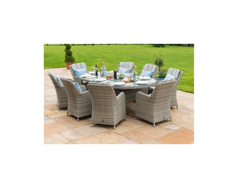 Oxford 8 Seat Dining Set <br> Ice Bucket + Lazy Susan <br> RRP £2999