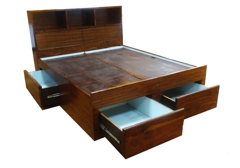 WOODEN MAHARAJA BED BOX