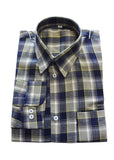 SHIRTS (BLUE GREY CHECK)