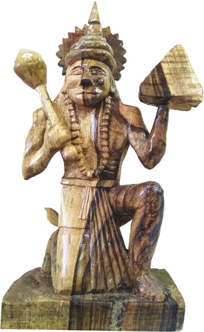 WOODEN STATUE OF  LORD HANUMAN