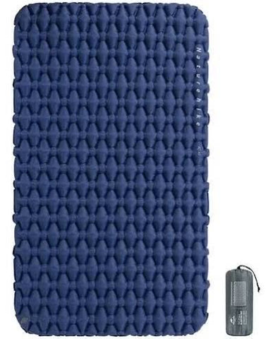 blue 2 person inflatable sleeping pad