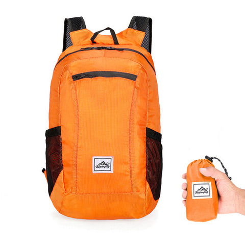 orange 20 litre day pack backpack