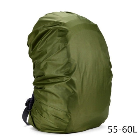 60 liter litre waterproof nylon army green backpack protective rain cover 55-60L 55L 60L