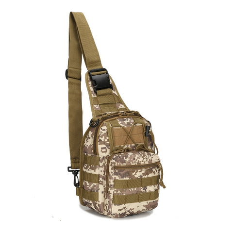 20 litre brown camouflage tactical crossbody shoulder bag