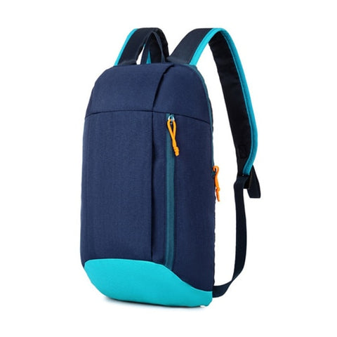 10L navy blue and light blue backpack